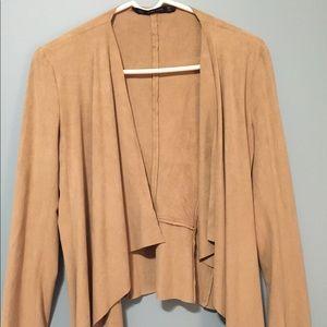 zara thin suede sweater